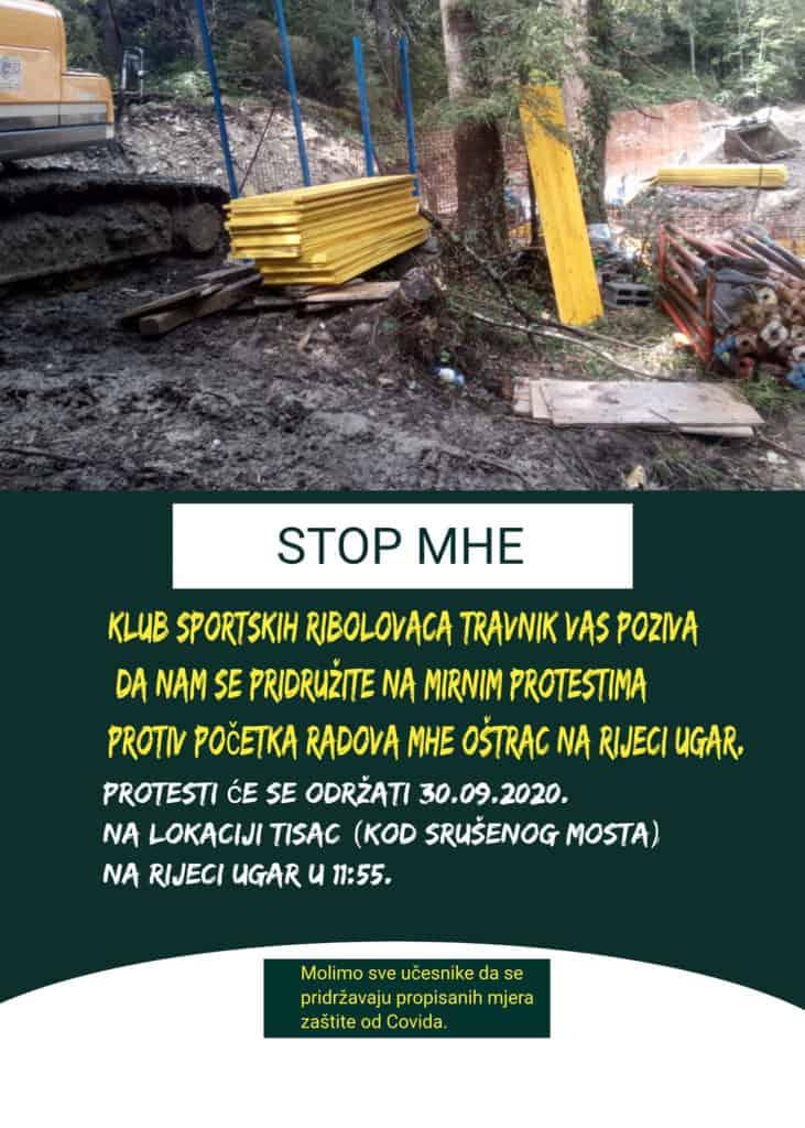 Uništavanje rijeke Ugar/U srijedu protest zbog gradnje MHE