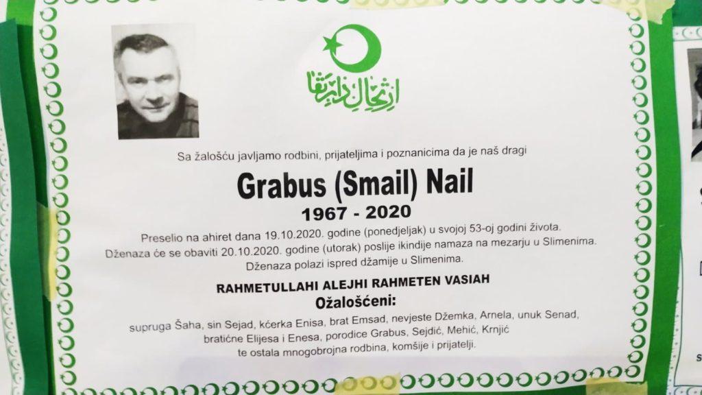 Preminuo Grabus Nail