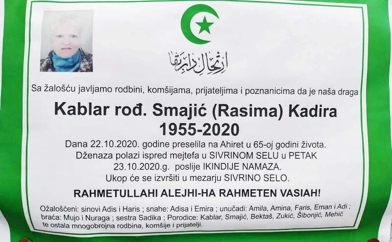 Danas dženaza Kadiri Kablar