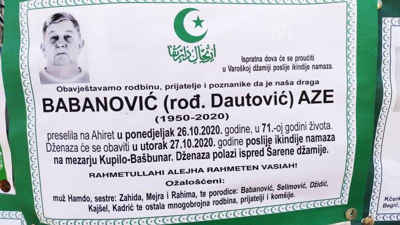 Preminuo Babanović Aze