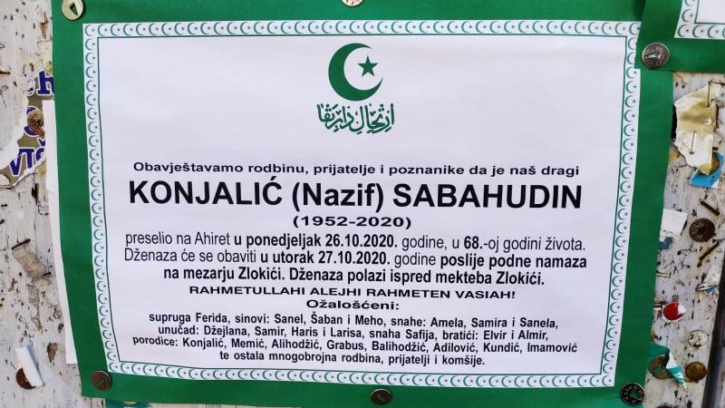 Preminuo Konjalić Sabahudin