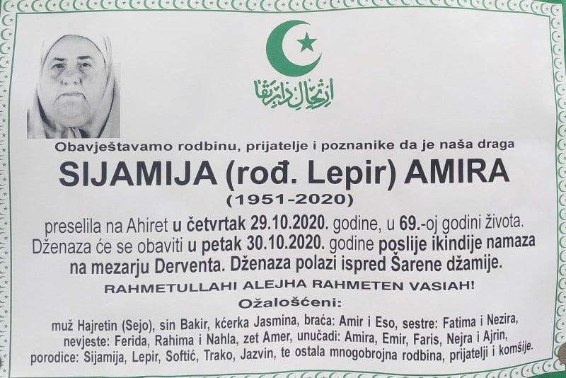 Preminula Sijamija rođ. Lepir Amira