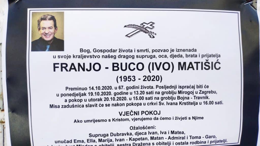Preminuo Franjo - Buco Matišić