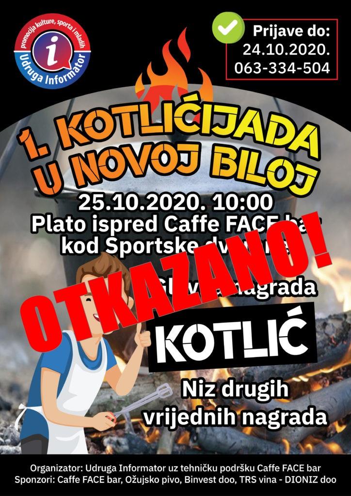OTKAZANA Kotlićijada u Novoj Biloj!