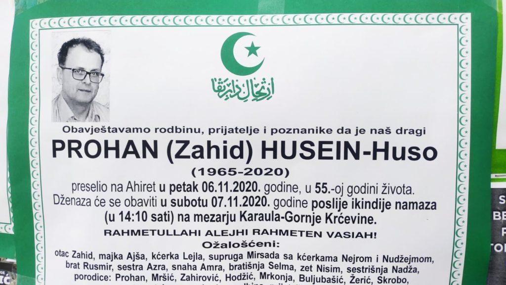 Preminuo Prohan Husein Huso