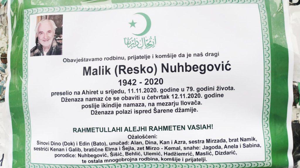 Preminuo Malik Nuhbegović