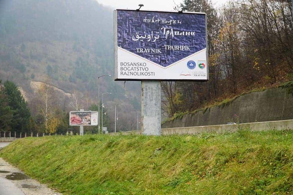 Na pet pisama napisano Travnik