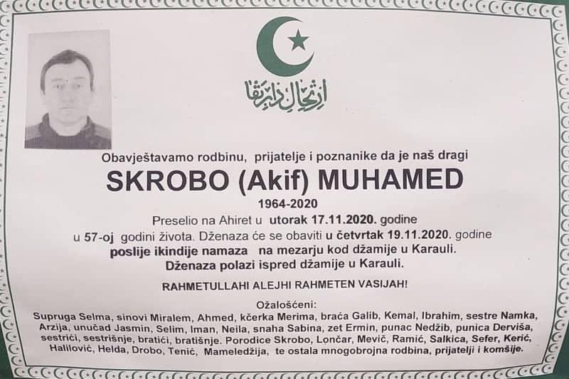 Preminuo Muhamed Skrobo
