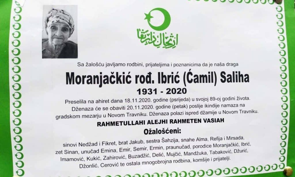 Preminula Moranjačkić Saliha
