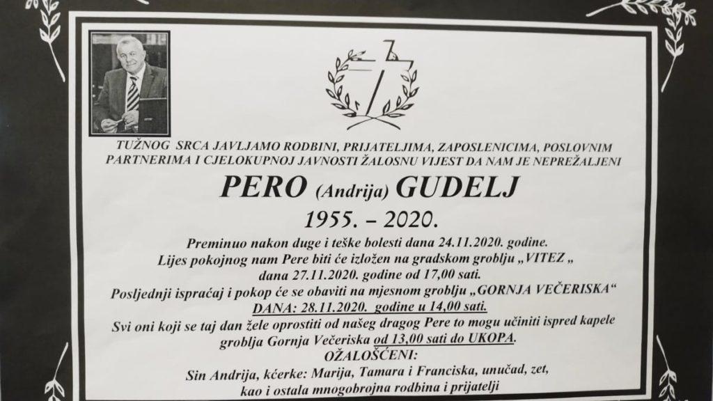 U subotu sahrana Peri Gudelju