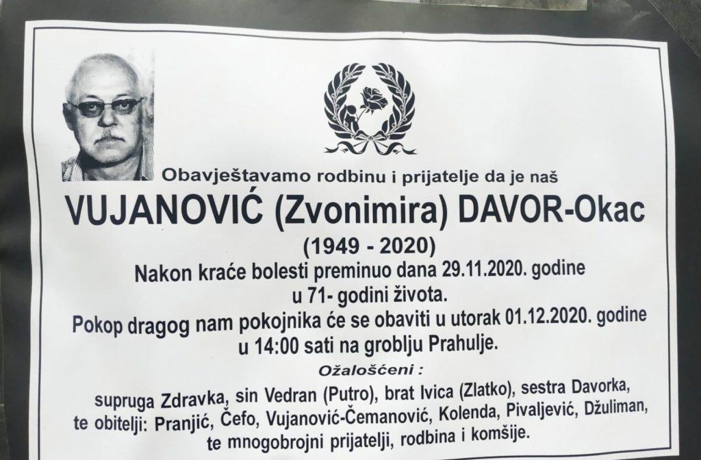 Sutra sahrana Davoru Vujanoviću - Okcu