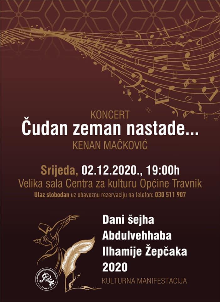 """Ilhamijini dani 2020/ U srijedu koncert """"Čudan zeman nastade"""""""
