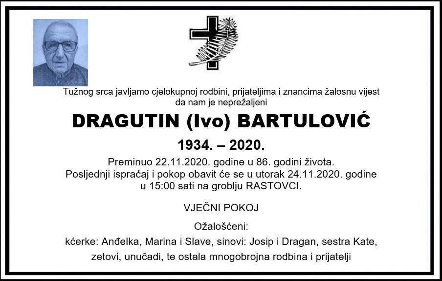 Preminuo Dragutin Bartulović
