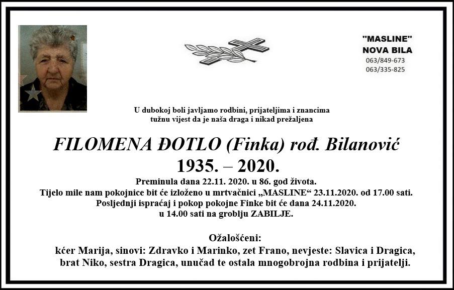 Preminula Filomena Đotlo