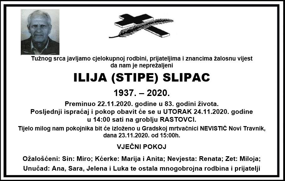 Preminuo Ilija Slipac