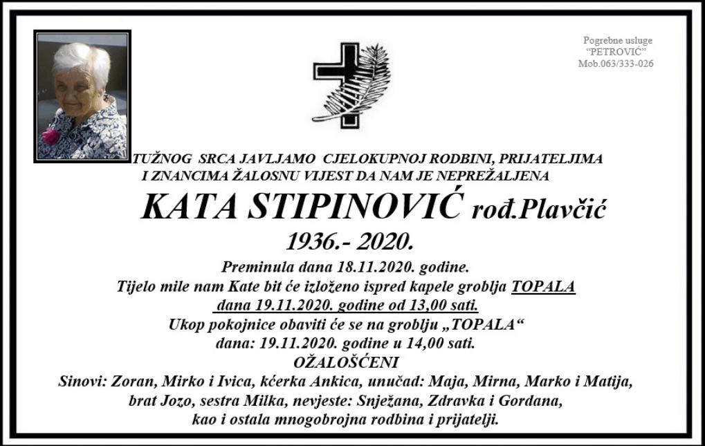 Kata Stipinović preminula osmrtnice ksb