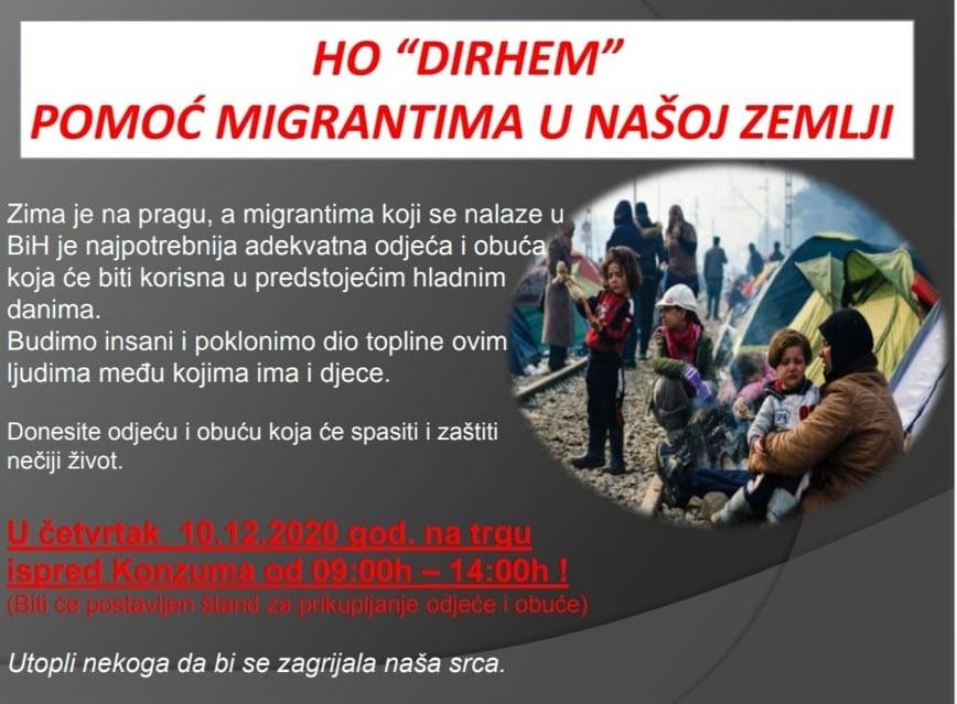 """HO """"Dirhem""""/ Prikupljanje odjeće za migrante"""