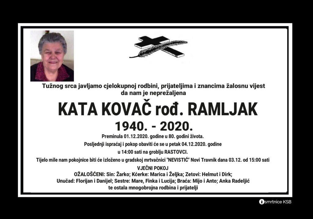 Preminula Kata Kovač