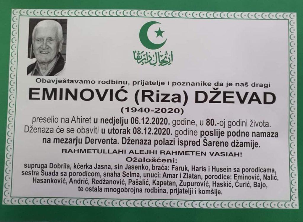 Preminuo Dževad Eminović