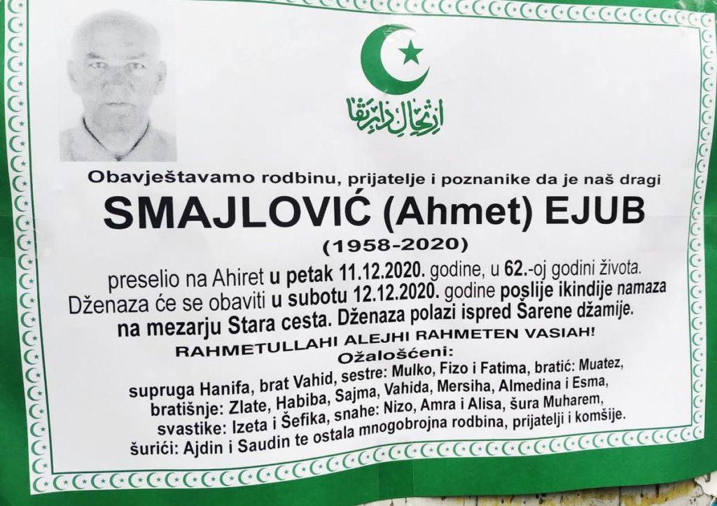 Preminuo Smajlović Ejub