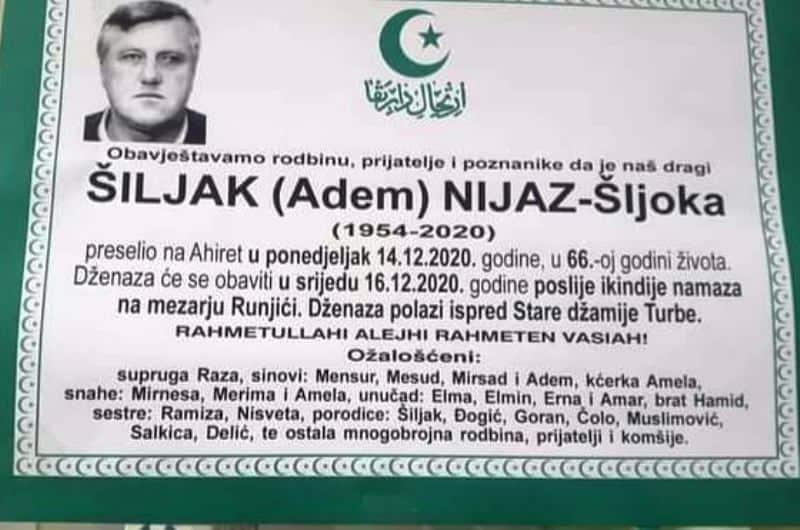 Preminuo Nijaz Šiljak