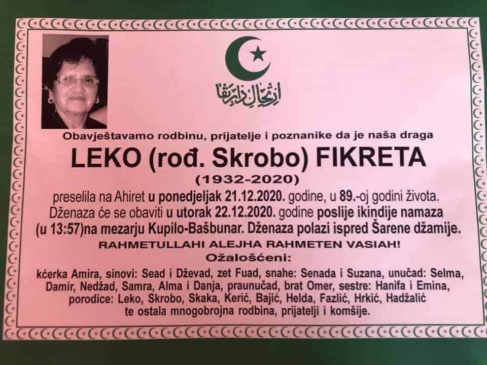 Preminula Leko Fikreta