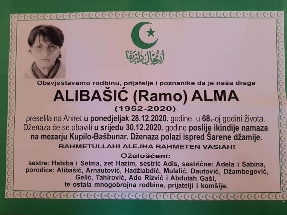 Preminula Alibašić Alma