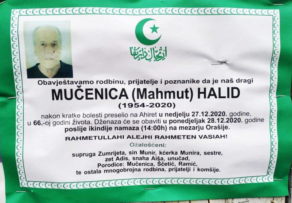 Preminuo Mučenica Halid