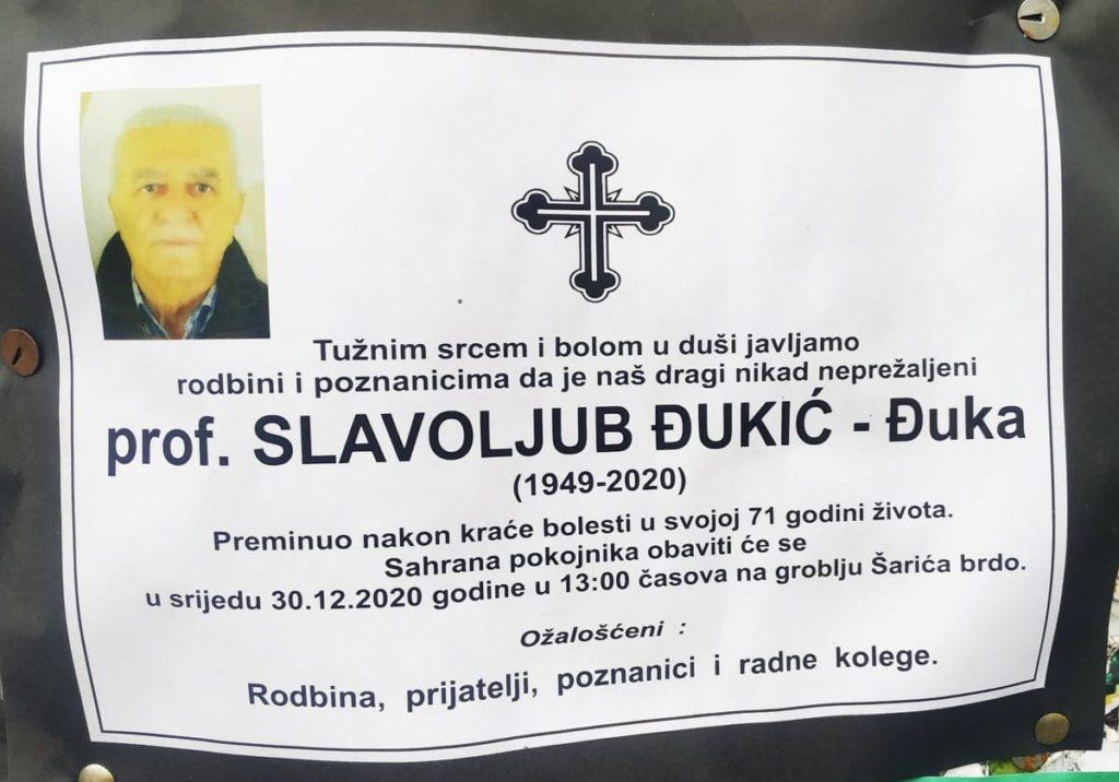 Preminuo prof. Slavoljub Đukić - Đuka