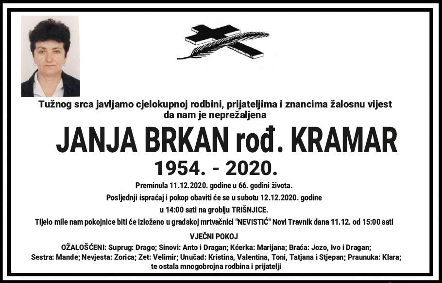 Preminula Janja Brkan