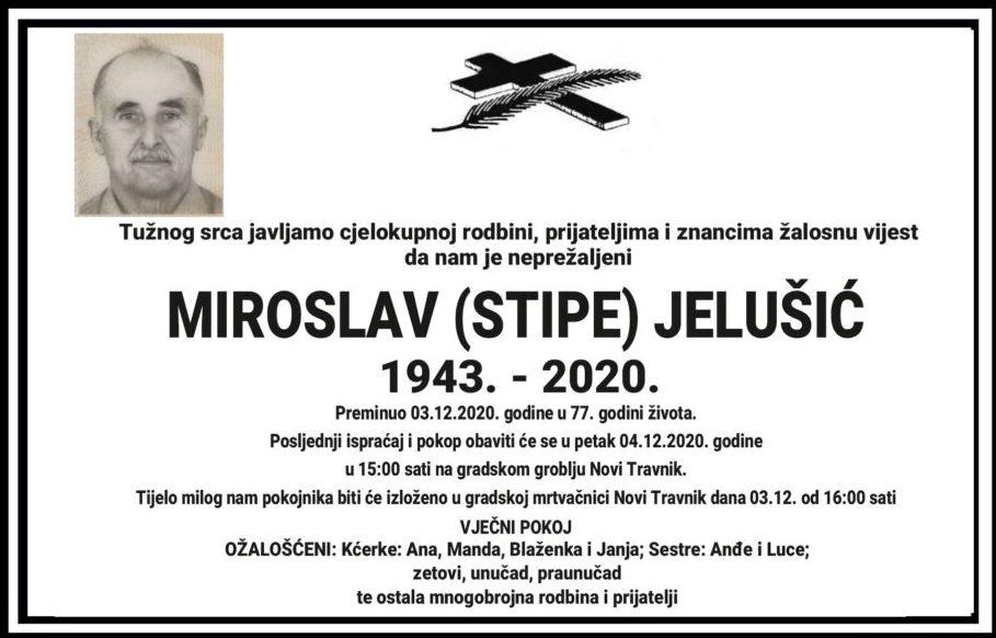 Preminuo Miroslav Jelušić