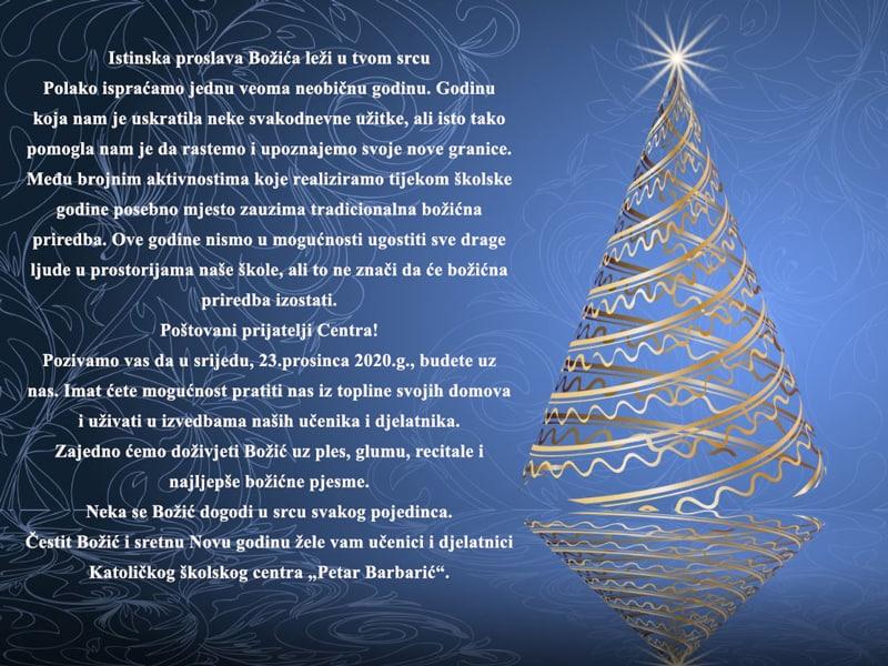 KŠC Travnik / Pratite tradicionalnu Božićnu priredbu