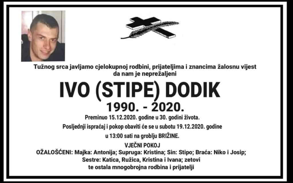 U subotu sahrana Ivi Dodiku