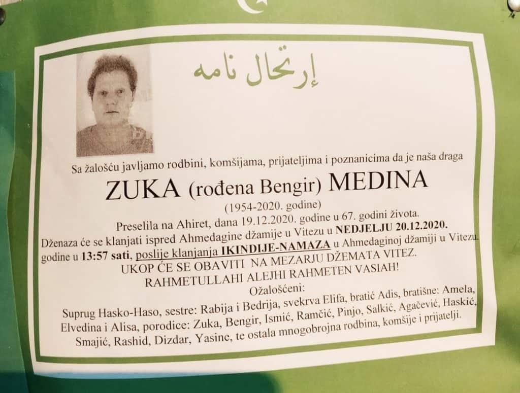 Preminula je Medina Zuka