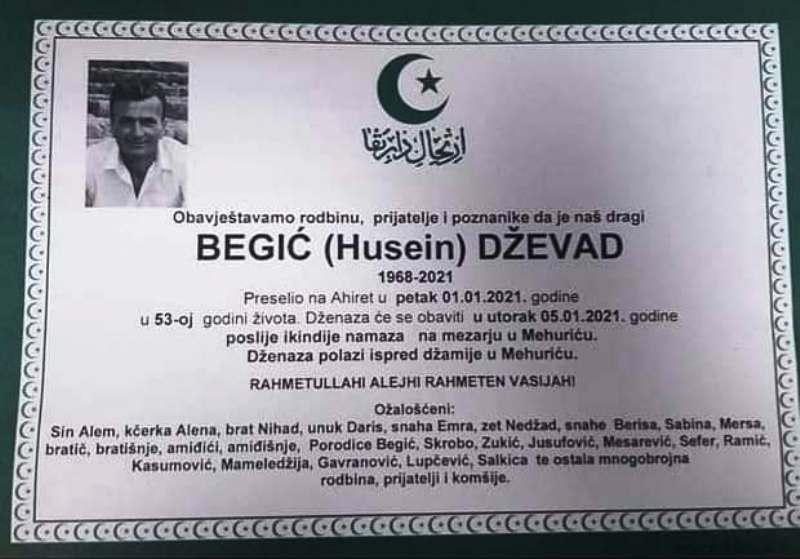 Preminuo Dževad Begić