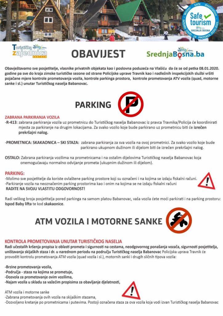 Turističko naselje Babanovac/ Kontrole prometovanja od 8. januara