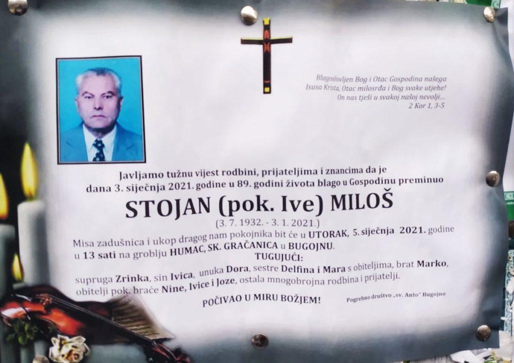 Preminuo Stojan Miloš