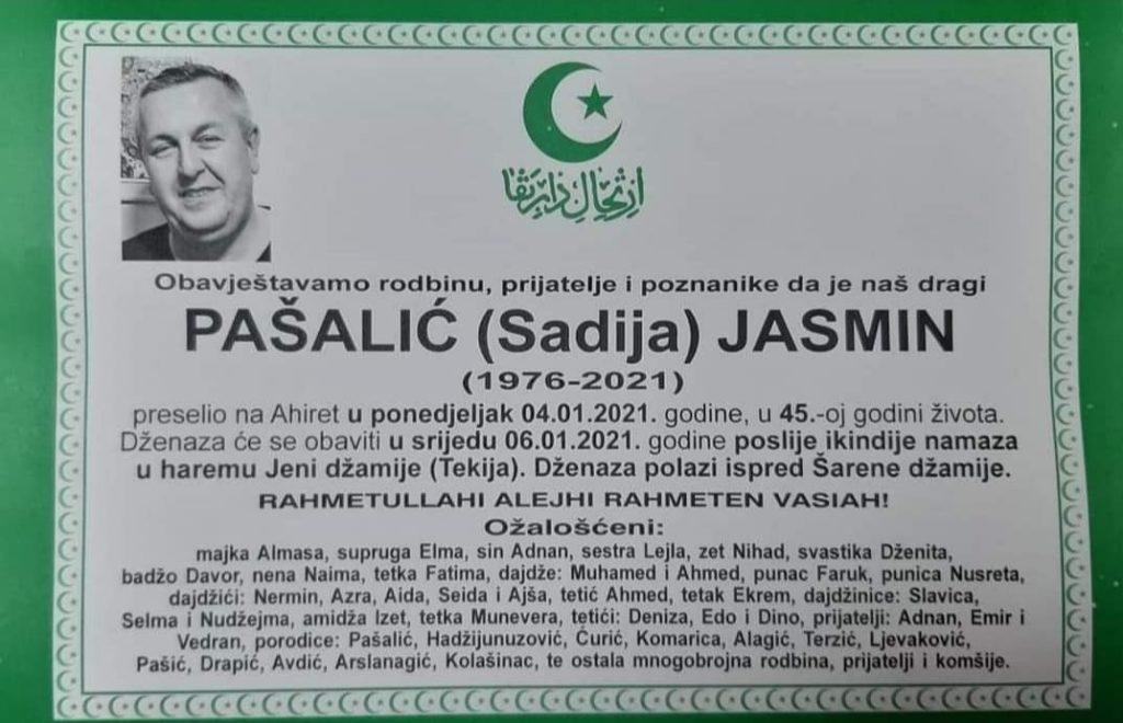 U 45. godini života preminuo Pašalić Jasmin