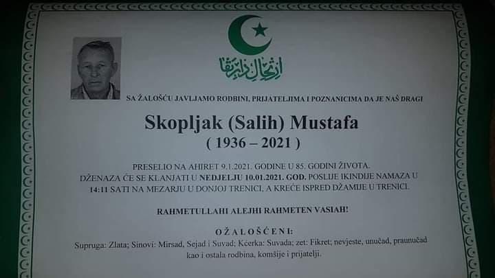 Preminuo Skopljak Mustafa