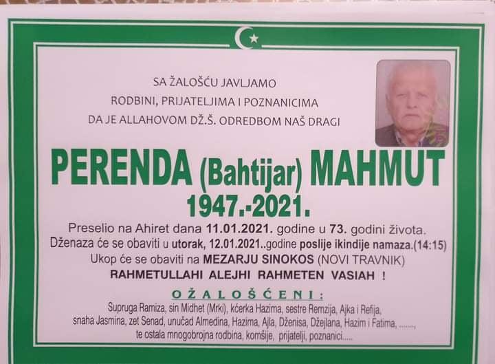 Preminuo Perenda Mahmut