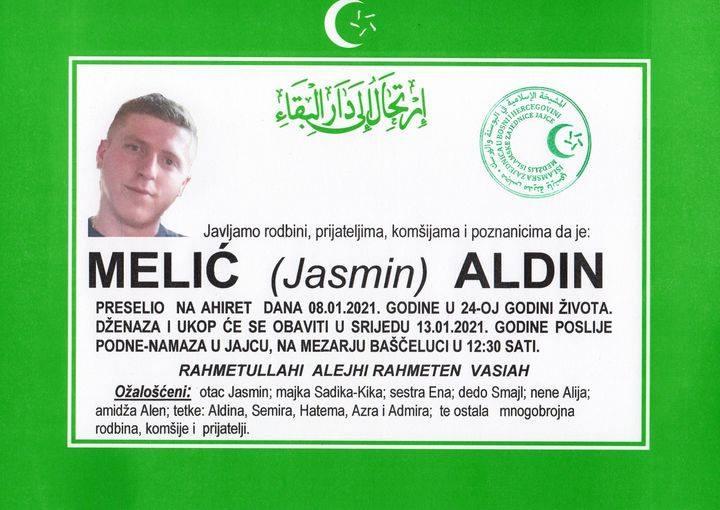 Sutra dženaza 24-godišnjem Aldinu Meliću