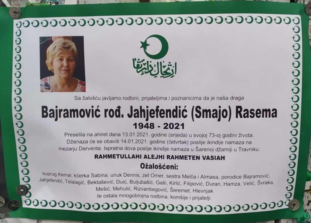 Preminula Rasema Bajramović