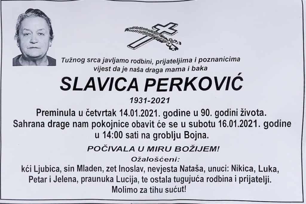 Preminula Slavica Perković