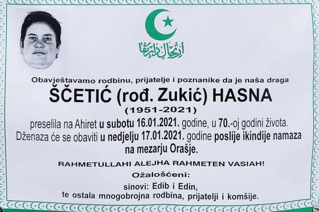 Preminula Ščetić Hasna