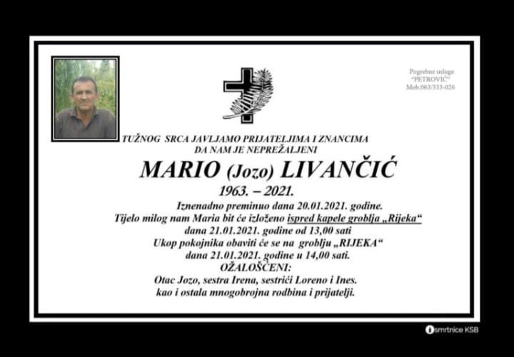 Preminuo Mario Livančić