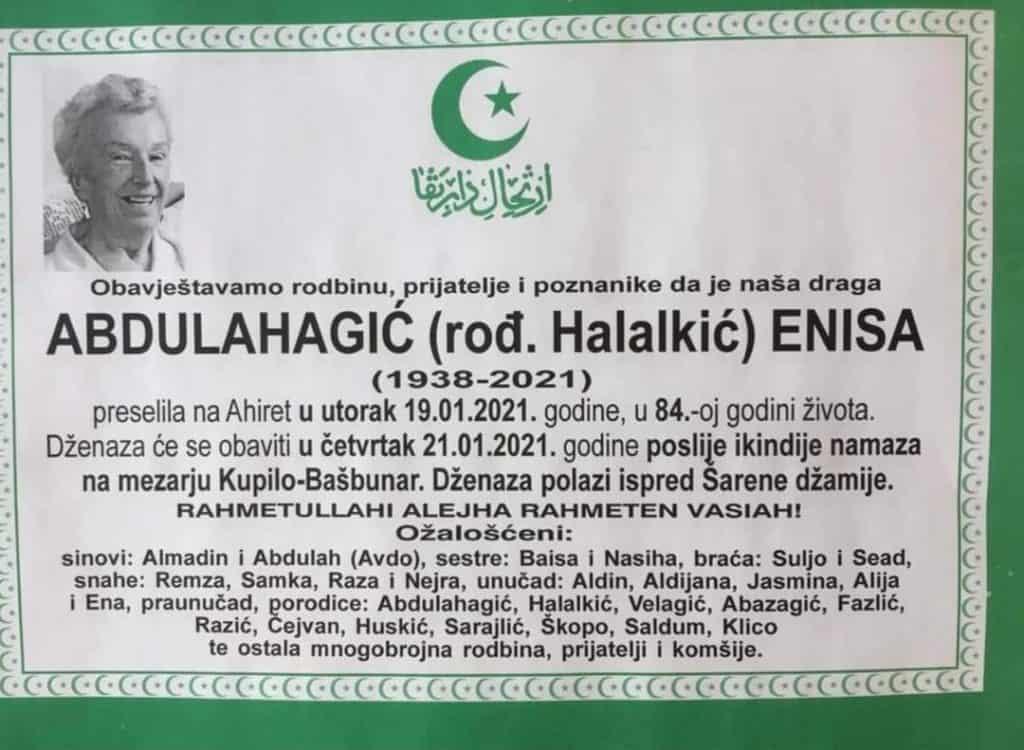Preminula Abdulahagić Enisa