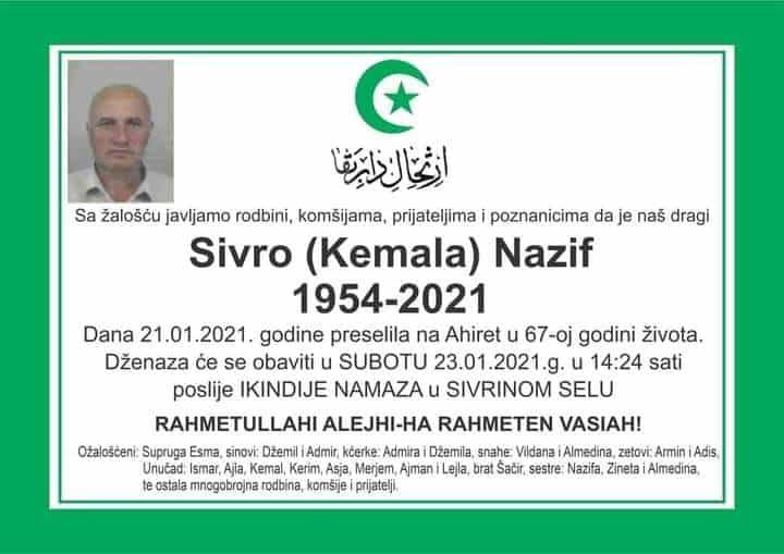 Preminuo Sivro Nazif