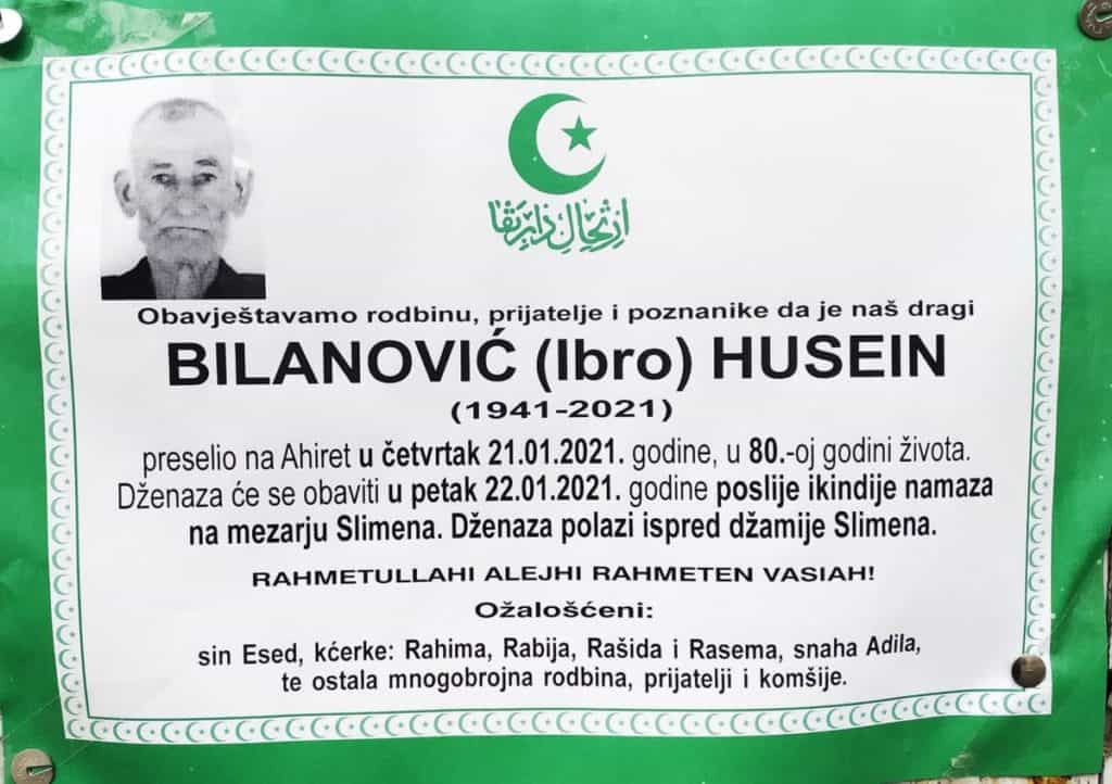 Preminuo Bilanović Husein