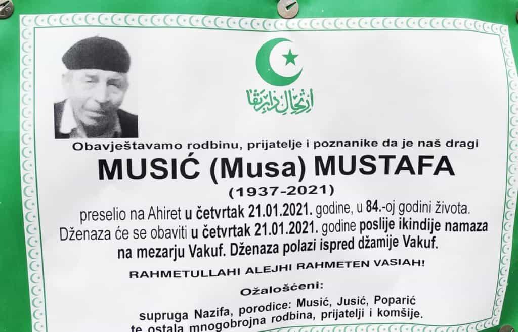 Preminuo Musić Mustafa