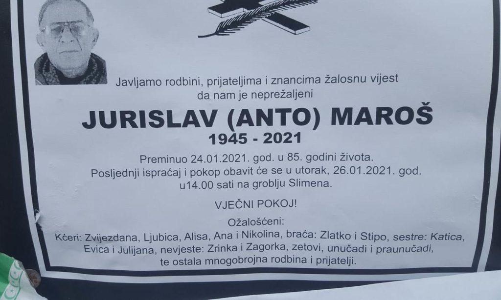 Preminuo Jurislav Maroš